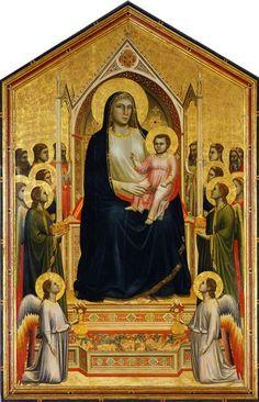 Мадонна во славе (Мадонна Оньиссанти). Ок. 1310 г. 325 х 204 см. Джотто. Галерея Уффици, Флоренция.