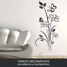 Simple Wall Paintings, Wall Painting Decor, Wall Stickers Home Decor, Diy Wall Decor, Room Decor, Mural Floral, Floral Wall, Bedroom Murals, Wall Murals