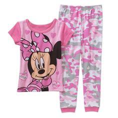 Minnie Baby Toddler Girl Short Sleeve Cotton Tight Fit Sleepwear Set