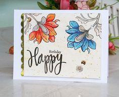 Elegant Watercolor Floral Card Altenew Persian Motifs