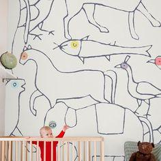 Rachel cave beautifull wallpapers for kids bedroom. At Minimaki walls Feb 14-16 2012