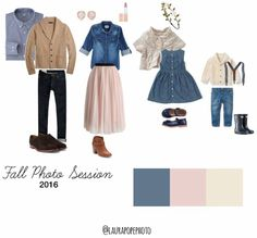 What to wear for your 2016 fall session Navy Family Pictures, Family Photos What To Wear, Family Pics, Family Portrait Outfits, Family Picture Outfits, Family Portraits, Family Photo Colors, Photo Projects, Wardrobe Ideas