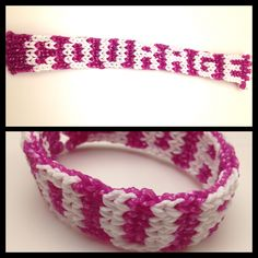 """Courage"" Rainbow Loom bracelet"