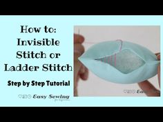How to sew an invisible ladder stitch – video – Sew Modern Bags