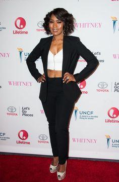 Angela Bassett The Premiere of Lifetime's Whitney .... like fine wine! Damn!