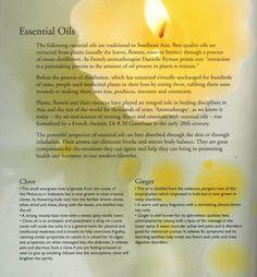 essential oils - the tropical spa book by Sophie Benge