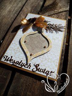 Kartka złota na Boże Narodzenie #asiscrapki