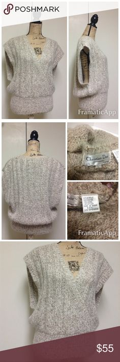 Christian Dior Separates Sleeveless Sweater Christian Dior Separates Sleeveless Sweater  Sz Large . Gently worn great condition. Christian Dior Sweaters V-Necks