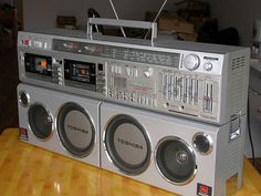 WX-1  One of several 80's boombox/ghetto blasters that I consider to be a work of art and just beyond cool. The legendary Toshiba BomBeat WX-1. If you fancy one of these be prepared to dig deep, very deep.