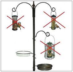 Garden Bird Feeder Water Bath & Seed Tray Feeding Station For WildBirds Patio