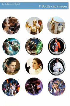 I'm sharing free digital bottle cap images I created Schultüte Star Wars, Theme Star Wars, Star Wars Party, Bottle Cap Magnets, Bottle Cap Art, Glass Magnets, Star Wars Crafts, Geek Crafts, Bottle Top Crafts
