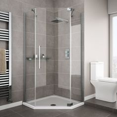 Add a modern touch to your bathroom with a Quadrant Shower Enclosure. Shop our vast range of Corner Shower Enclosures from Victorian Plumbing today. Corner Shower Enclosures, Quadrant Shower Enclosures, Frameless Shower Enclosures, Zen Bathroom, Modern Bathroom, Small Bathroom, Industrial Bathroom, Modern Powder Rooms, Single Doors