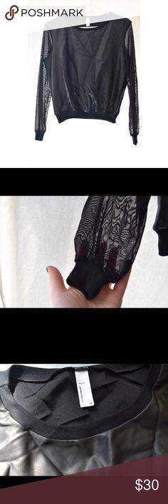 American apparel see thru sleeves top Brand New!! Size XS American Apparel Tops Tees - Long Sleeve
