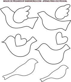 Plantilla manualidad de pájaro