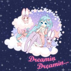 dreamin dreamin by saaki-pyrop on DeviantArt Anime Chibi, Manga Anime, Anime Art, Anime Girl Cute, Kawaii Anime Girl, Anime Girls, Pretty Art, Cute Art, Kawaii Illustration