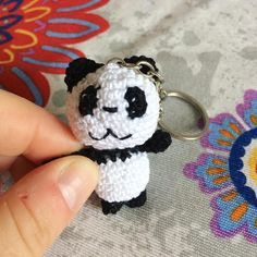 """""""Mi piace"""": 38, commenti: 5 - Patrizia Buono (@imago_be_creative) su Instagram: """"Un #mini #panda #portachiavi pronto per la consegna 😊 non é adorabile? 😍 #keychain #little…"""""""