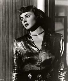 "Ingrid Bergman in ""Arch of Triumph"" (1948)     Her dress inspired Butterick 4133 pattern"