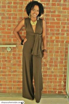 diy infinity top high waisted jumpsuit