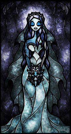 Stain Glass Art- Tim Burton's Corpse Bride