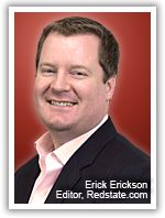 Thankful for an endorsement from RedState's editor-in-chief and CNN contributor, Erick Erickson.