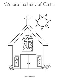 We are the body of Christ Coloring Page - Twisty Noodle