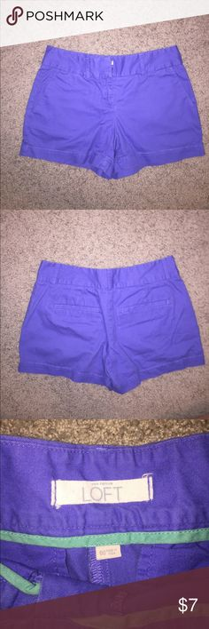Chino Shorts Powder blue shorts perfect for a summer or warm fall day. Never worn. Send me an offer or bundle for a private discount! LOFT Shorts Jean Shorts