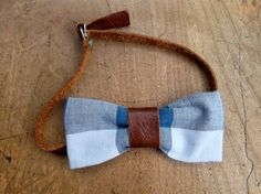 Leather hits on a bowtie.