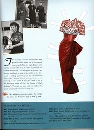Lucille Ball paper doll dress / home-and-garden.webshot.com