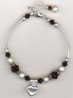 Custom Made Revel In The Love ~ Swarovski Crystal Pearl Sterling Silver Bracelet Swarovski Jewelry, Beaded Jewelry, Jewelry Bracelets, Silver Jewelry, Ankle Bracelets, 925 Silver, Jewellery, Swarovski Crystals, Silver Rings