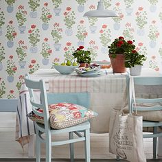 Patchwork dining table | Dining room ideas | PHOTO GALLERY | Country Homes and Interiors | Housetohome.co.uk