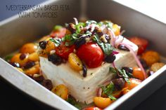 Mediterranean Baked Feta from My So Cal'd Life as part of the Friday Five - Mediterranean addition - Feed Your Soul Too