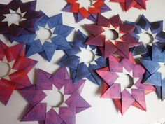 Stern Robin von Maria Sinayskaya aus Origami-Papier von kefro (www.papier-mit-farbe.de)