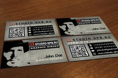 Business card in grunge style