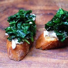 Killer App: Sautéed Kale and Burrata Bruschetta: I had this dish as an appetizer recently at a restaurant and I thought it was such a great combination of flavors and textures.