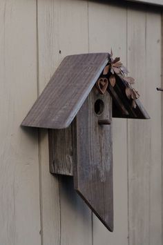 Metal and Barn Wood Birdhouse by BirdCreekMercantile on Etsy