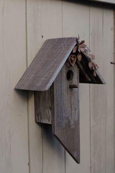 Metal and Barn Wood Birdhouse by BirdCreekMercantile on Etsy