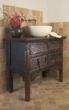 Diy Dresser To Vanity Dressers Primitive Bathrooms