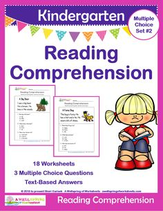 This set of Kindergarten Reading Comprehension Worksheets includes 18 reading comprehension stories in color and black & white with an answer sheet. Each text contains 3 simple sentences and 3 multiple choice answers. The answers are identical to the main text and cover a wide variety of topics, punctuation and simple vocabulary. Great for small group instruction! Awesome fluency checks!