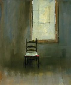 Empty Chair - Anne Packard American Giclée on canvas , 30 x 25 Black And White Painting, Painted Chairs, Art Plastique, Figure Painting, American Artists, Contemporary Artists, Art Lessons, Art History, Landscape Paintings