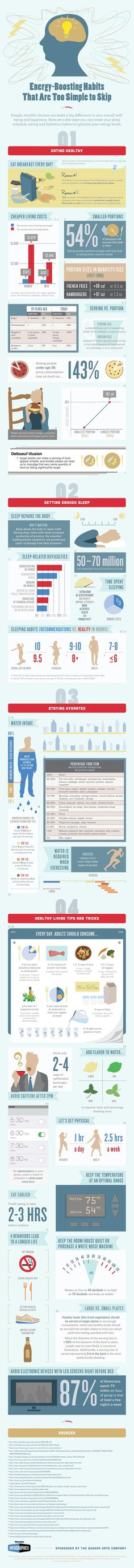 An infographic examining how lifestyle choices like healthy eating, proper hydration and healthy sleep habits can put the bounce back in your step.