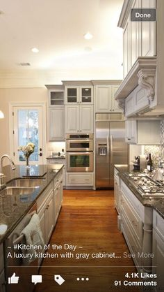 Kitchen ideas...never wanted a white kitchen but I am drawn to the on Pinterest