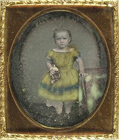 Daguerreotype - Girl in Yellow Dress with Doll | Flickr - Photo Sharing!