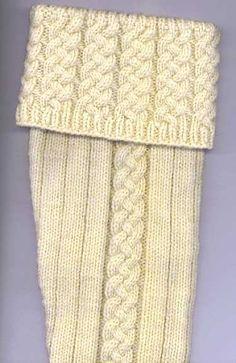 Free Knitting Pattern: John Anderson's Kilt Hose