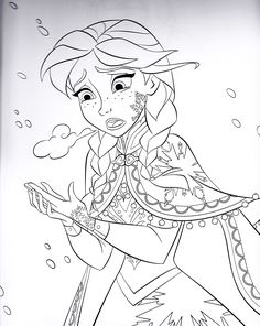 Anna and Kristoff Coloring Page Frozen Coloring Pages http