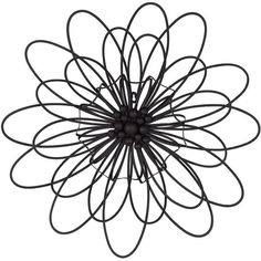 """Universal Lighting and Decor Novella Metal Flower 24 1/2"""" Round... (200.480 IDR) ❤ liked on Polyvore featuring home, home decor, wall art, fillers, flowers, backgrounds, doodles, drawings, circles and text"""