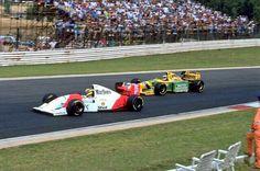Ayrton Senna - McLaren Ford MP4/8 vs. Michael Schumacher - Benetton Ford B193 - 1993 South Africa GP