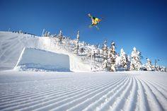 Battery Park in Ruka Ski Resort, Finnish Lapland