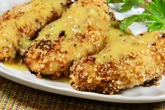 Honey Mustard-Panko Chicken Tenders Homemade Honey Mustard, Honey Mustard Sauce, Baked Panko Chicken, Healthy Cooking, Cooking Recipes, Cooked Chicken Recipes, Chicken Meals, Chicken Tenders, Chicken Wings