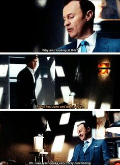 "LMAO Mycroft is perfection.<<<""fully functioning."" I love Mycroft ! Really ! ;)."