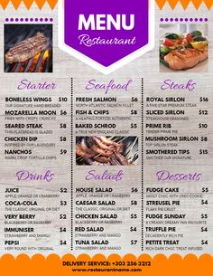 the 57 best restaurant poster templates images on pinterest online